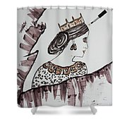 Modern Queen Shower Curtain