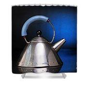 Modern Teapot. Shower Curtain