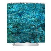 Modern Turquoise Art - Deep Mystery - Sharon Cummings Shower Curtain