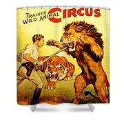 Modern Vintage Circus Poster Shower Curtain