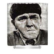 Moe Howard, Vintage Entertainer Shower Curtain