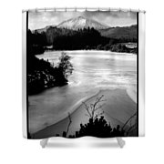 Moel Siabod Viewed From Llyn Glangors Lake Snowdonia Shower Curtain