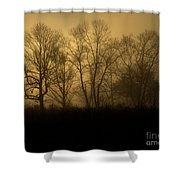 Morning Fog, #2, Smoky Mountains, Tennessee Shower Curtain