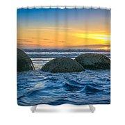 Moeraki Sunrise Shower Curtain