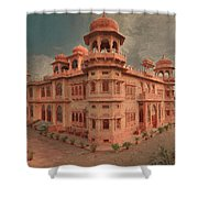 Mohatta Palace At Sunset Shower Curtain