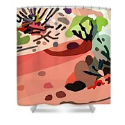 Mojave Mod 2bl  Shower Curtain