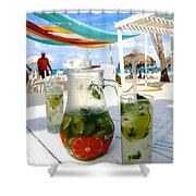 Mojitos On The Beach- Punta Cana Shower Curtain