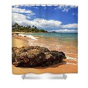 Mokapu Beach Maui Shower Curtain