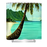 Mokolii Chinamans Hat Koolau Mountains #81 Shower Curtain
