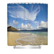 Mokulua Island Beach Shower Curtain