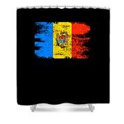 Moldova Gift Country Flag Patriotic Travel Shirt Europe Light Shower Curtain