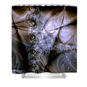 Molecular Cacao Shower Curtain