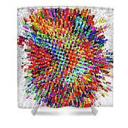 Molecular Floral Abstract Shower Curtain