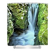 Moine Creek Goes Vertical Shower Curtain
