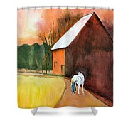 Molly And Me Shower Curtain