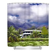 Moloa A Bay Hideaway Shower Curtain