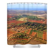 Molokai Cropland Shower Curtain