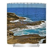 Molokai Lookout 0649 Shower Curtain