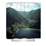 Molokai Valley Shower Curtain