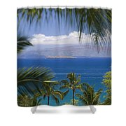 Molokini And Kahoolawe In Distance Shower Curtain