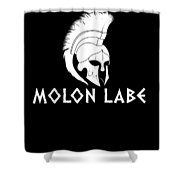 Molon Labe Spartan Warrior Helmet Shower Curtain