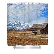 Molten Barn And Tetons 4 Shower Curtain