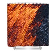 Molten Pahoehoe Lava Shower Curtain
