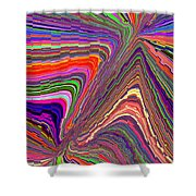 Molten Rainbow Redux Shower Curtain
