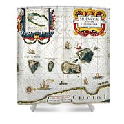 Moluccas: Spice Islands Shower Curtain