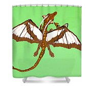 Mom And Child Dragons Shower Curtain