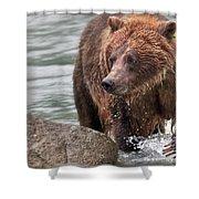 Mom Hunts Haines, Alaska Shower Curtain