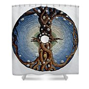 Momentary Node Of Connection - Tears Of Stone Shower Curtain