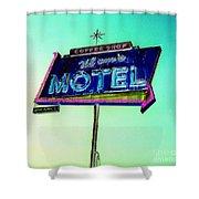 Mom's Motel Shower Curtain