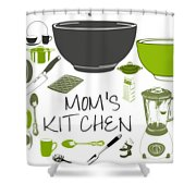 Moms Retro Kitchen Cookware Shower Curtain