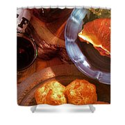 Mon Petite French Repast Shower Curtain