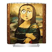 Mona In A Guilded Frame Shower Curtain