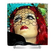 Mona In Mourning Shower Curtain