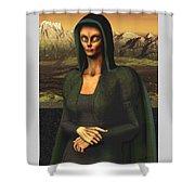 Mona Lisa Aien Shower Curtain