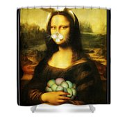 Mona Lisa Bunny Shower Curtain