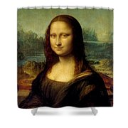 Mona lisa by leonardo da vinci painting by war is hell store for Mona lisa shower curtain