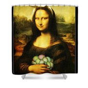 Mona Lisa Easter Bunny Shower Curtain