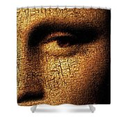 Mona Lisa Eyes 3 Shower Curtain
