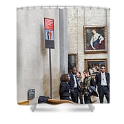 Mona Lisa, Louvre Museum, Paris Shower Curtain