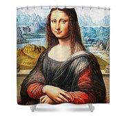 Mona Lisa Painting Shower Curtain