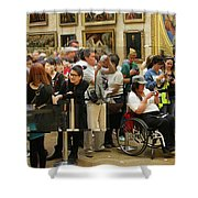 Mona Lisa Reflected Shower Curtain