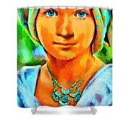 Mona Lisa Young - Pa Shower Curtain