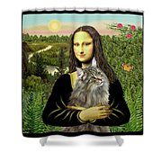 Mona Lisas Norwegian Forest Cat Shower Curtain