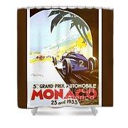 Monaco 5 Grand Prix 1933 Shower Curtain