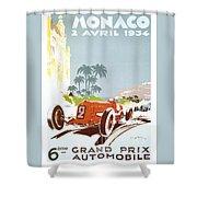 Monaco 6 Grand Prix 1934 Shower Curtain