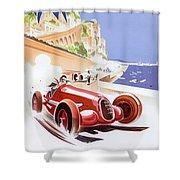 Monaco Grand Prix 1937 Shower Curtain